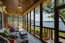 Lake house porch at Possum Kingdom Lake in Graham, Texas - Real Estate Photograph
