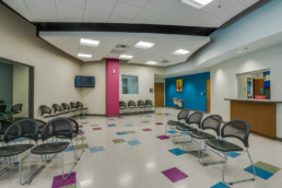 Commercial interior photograph of Pediatrics Associates in Wichita Falls, TX for local architecture firm