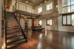 High rise loft apartment in downtown Dallas, TX - real estate photography
