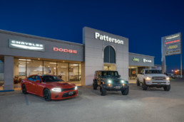 Photographed this exterior image of Patterson Dodge in Wichita Falls, TX
