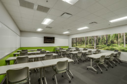 Commercial photo of classroom at the United Regional EHR Building in Wichita Falls, TX