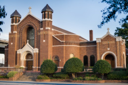 Commercial photo shot for local architecture firm of the exterior of Sacred Heart Catholic Church