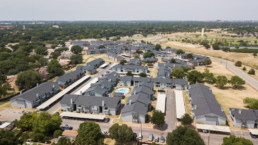 Aerial image of Arbor Creek Apartments in Wichita Falls, TX