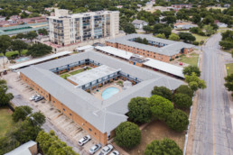 Brigadoon Apartments - Aerial image of apartment complex in Wichita Falls, TX