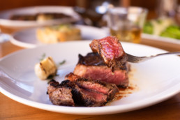 Food Photography of steak at Market Steer Steakhouse in Santa Fe, NM
