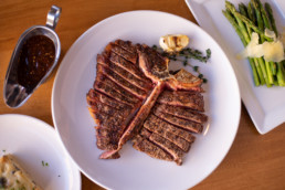 Food photograph of a porterhouse steak at Market Steer Steakhouse in Santa Fe, NM