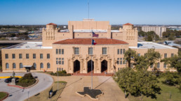 Aerial image of Memorial Auditorium in Wichita Falls, TX