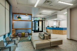 Commercial photography of Hospital Outreach Center in Weatherford, Texa