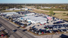 Aerial photograph of Patterson Dodge Chrysler Jeep Ram & Fiat in Wichita Falls, TX