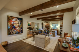 A real estate image of a living room at a real estate listing in Wichita Falls, TX