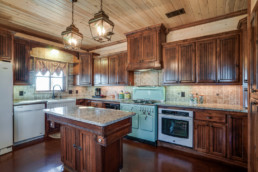 A real estate photograph of a country kitchen at a real estate listing in Wichita Falls, Texas