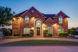 A twilight exterior portfolio image for a builder / remodeler in Wichita Falls, TX