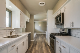 A real estate photograph of a kitchen at a real estate listing in Wichita Falls, TX