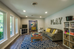A real estate photograph of a playroom at a real estate listing in Wichita Falls, TX