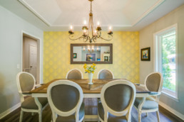 A real estate photograph of a dining room at a real estate listing in Wichita Falls, TX