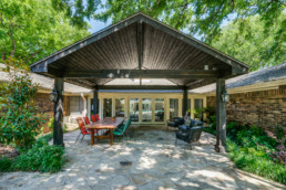 A real estate photograph of a backyard paradise at a real estate listing in Wichita Falls, TX