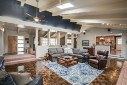 A real estate photograph of a living room at a real estate listing in Wichita Falls, TX