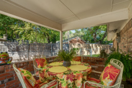 A back porch real estate photo at a listing in Wichita Falls, TX