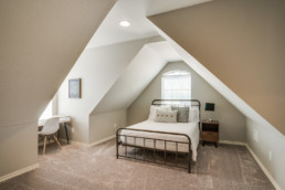 A real estate photo of an upstairs bedroom at a home in Wichita Falls, TX