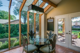 A real estate photograph of a breakfast nook at a real estate listing in Wichita Falls, TX
