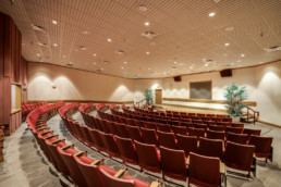 Commercial interior photograph of the Seminar Room at the MPEC in Wichita Falls, TX