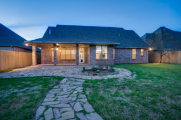 Twilight exterior image of a real estate listing in Wichita Falls, TX