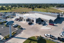 Aerial photo of Vernon Ford for local architecture firm in Wichita Falls, TX