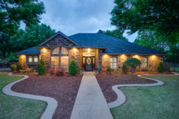 Twilight photo of a real estate listing in Wichita Falls, TX
