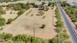 Aerial image of a the back lot of a home off Seymour Hwy in Wichita Falls, TX