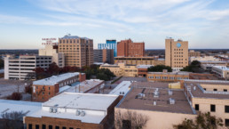 Aerial photograph of downtown Wichita Falls, TX